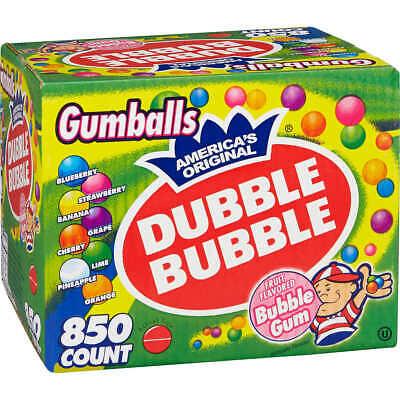 Dubble Bubble Assorted Gumballs Size 24mm Vending Size 850 Ct.