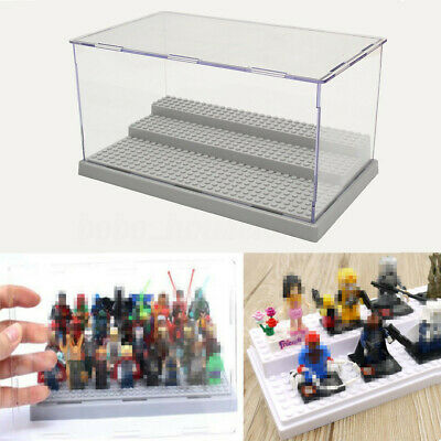 3 Step Acrylic Display Sow Case Box For Lego Minifigure Assemble Dustproof Us1