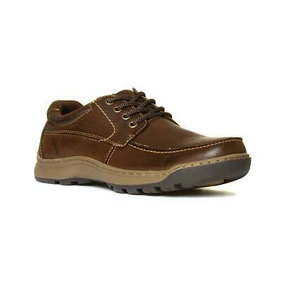 Hush Puppies Tucker Mens Leather Shoe in Brown Size UK 6,7,8,9,10,11,12