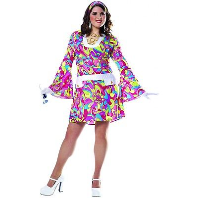 Groovy Chic Plus Costume Halloween Fancy Dress