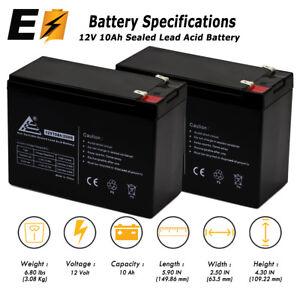 2x 12v 10ah Battery for Schwinn S500 FS, S-500 FS Scooter replaces Casil CA12100
