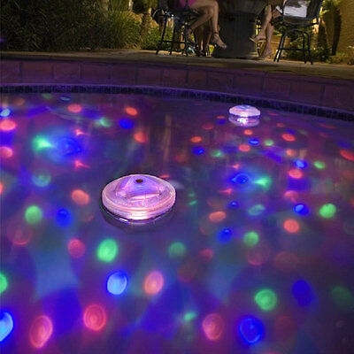 Underwater Tub & Pool 5 LED Floating Light Spa Bath Disco Flood Light