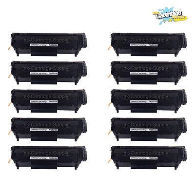 10pc Q2612a 12a Black Toner Cartridge For Hp Laserjet 102...