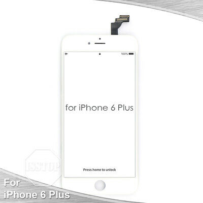 White iPhone 6 Plus LCD Display Touch Screen Digitizer Frame Replacement A1522 (Replacement Screen Frames)