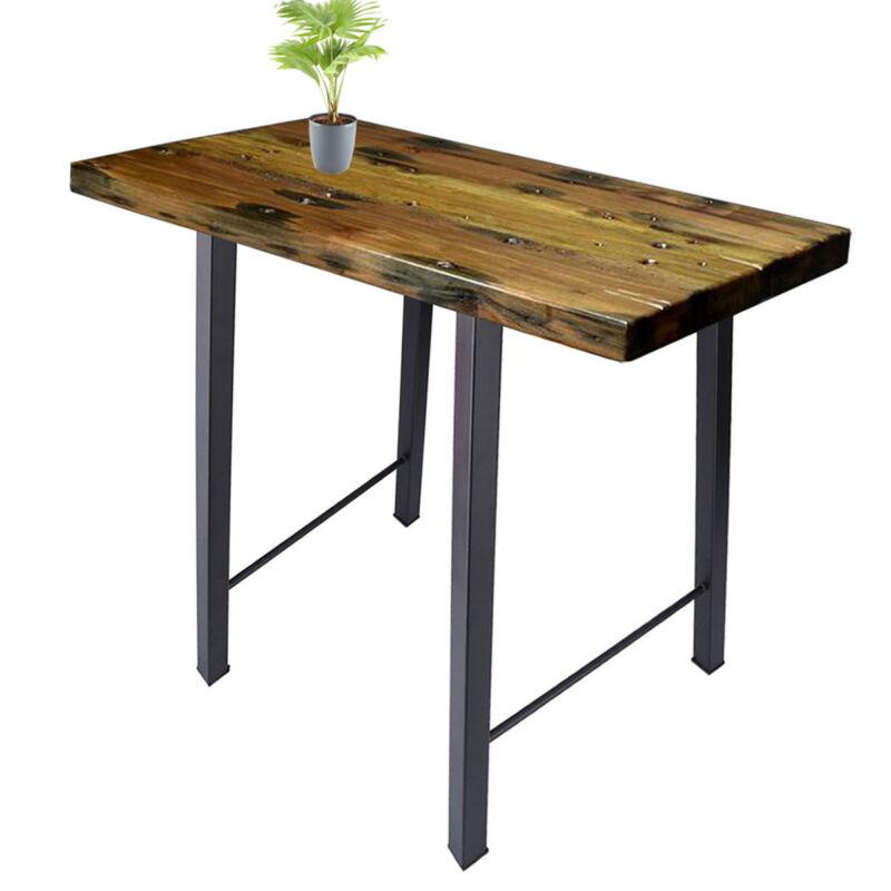 Black 28'' Industry Dinner Table Leg Metal Steel Bench Legs