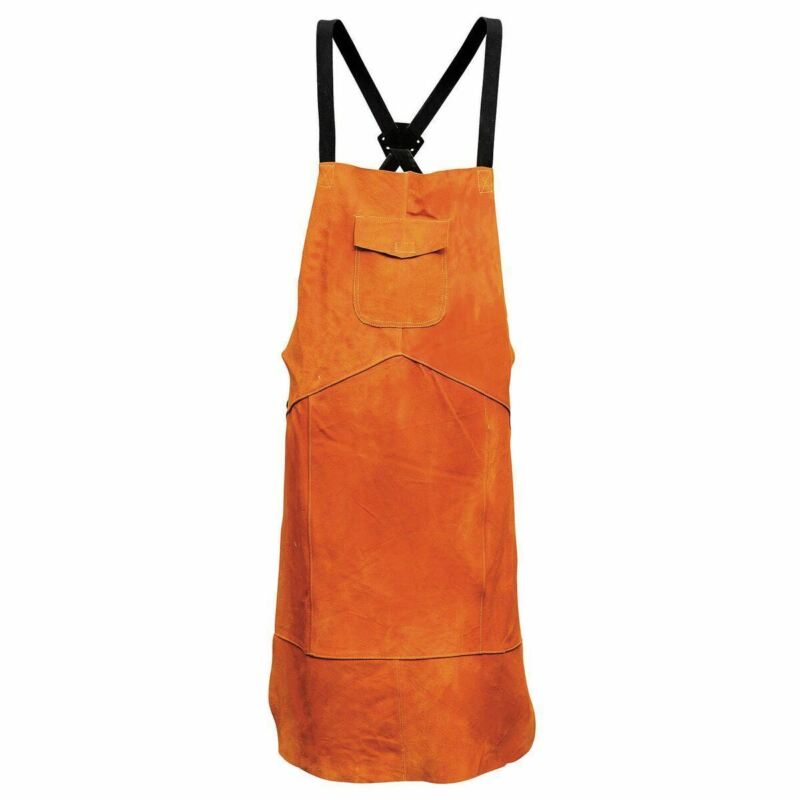 Leather Welding Bib Apron,Welder