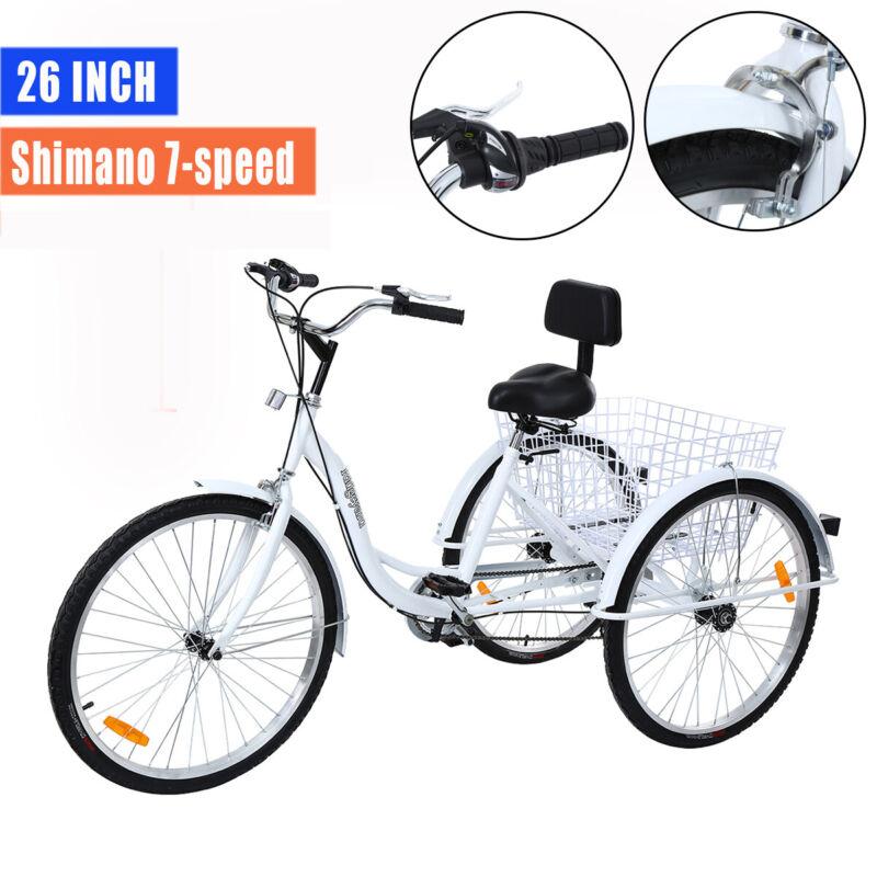 "Ridgeyard 26"" 3-Wheel Adult Tricycle Bike Bicycle Trike Crui"
