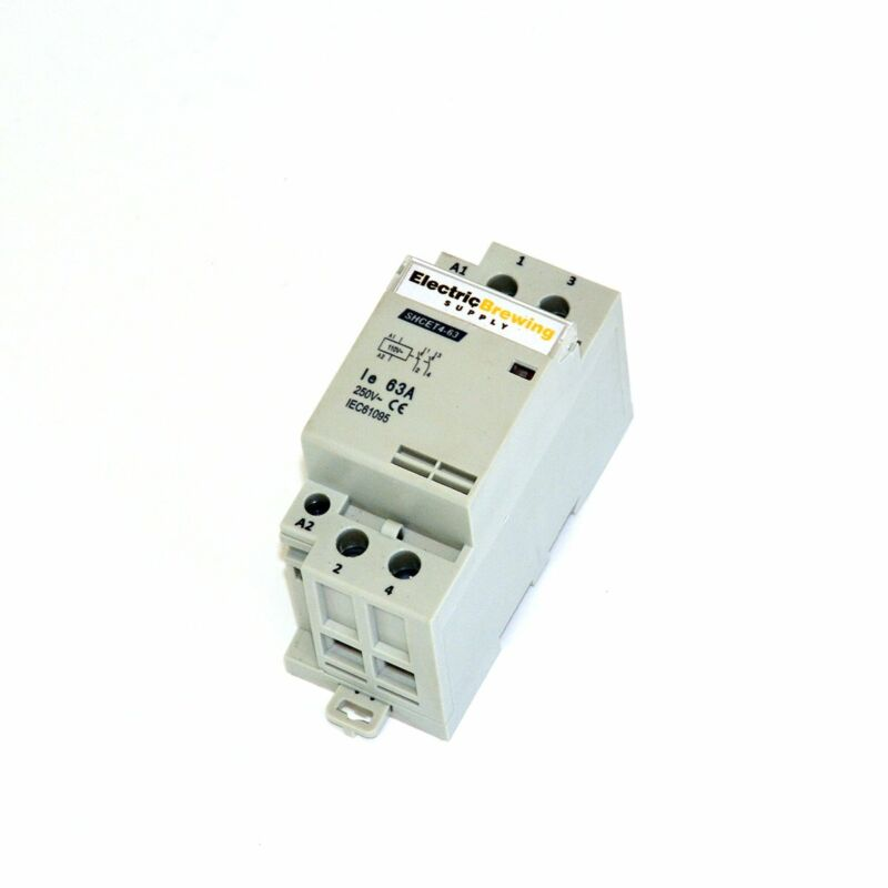 2 Pole 63a, 110v Coil, DIN Rail Contactor