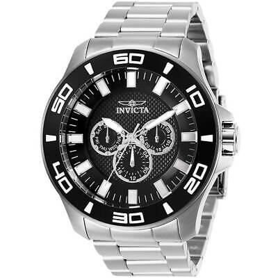 Invicta Men's Watch Pro Diver Chrono Black Dial Stainless Steel Bracelet 27980