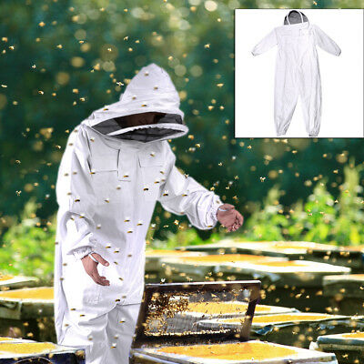 Full Beekeeping Suit Bee Suit Heavy Duty Ventilated Keeping Veil Hood
