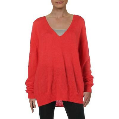 Free People Womens Gossamer Wool Blend Oversized Top V-Neck Sweater BHFO 6312