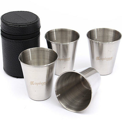 Set of 4 Stainless Steel Cup Mug ...