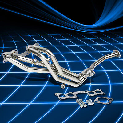 Stainless Long Tube Header Exhaust Manifold for for 90-97 Nissan D21 2.4 Pickup ()