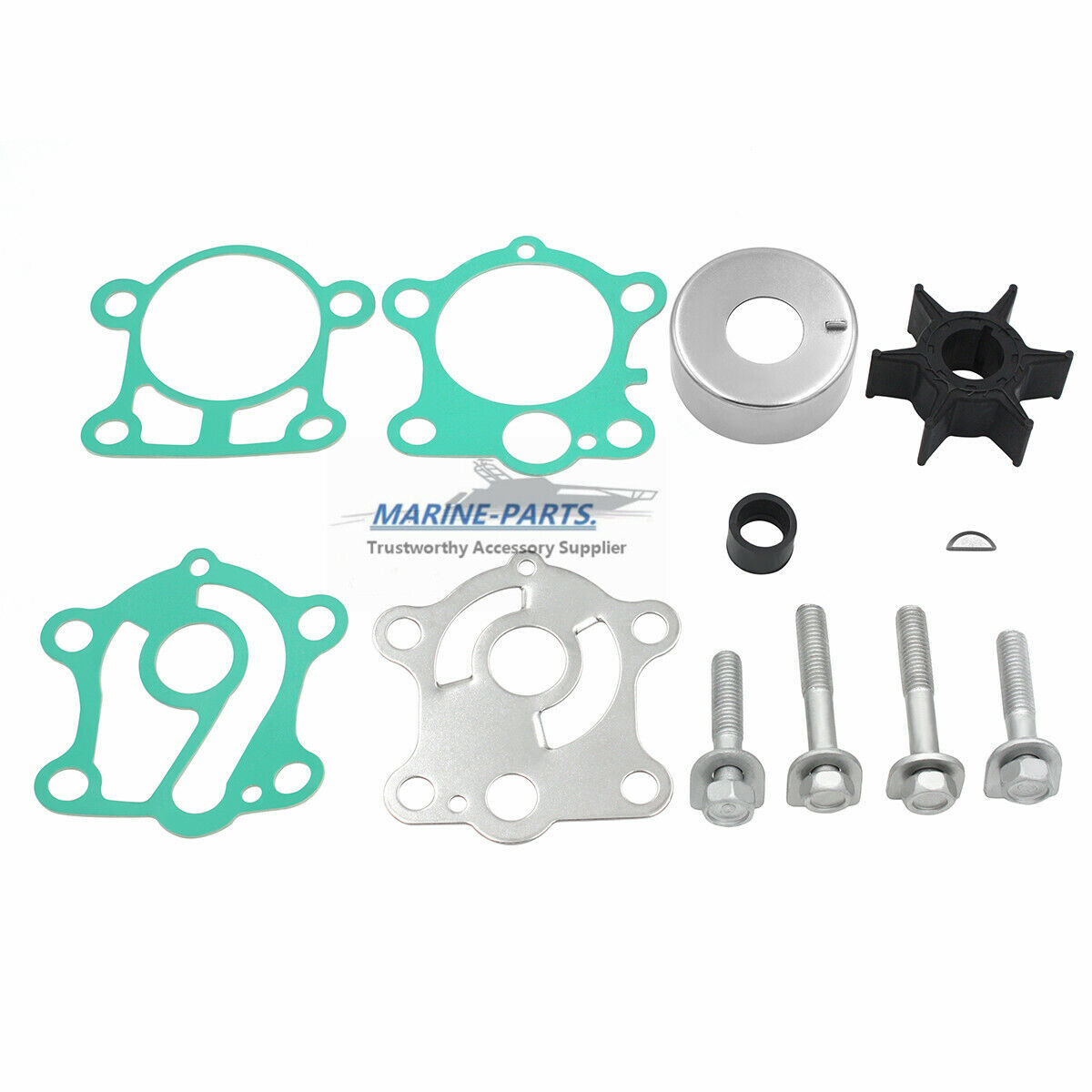 Water Pump Impeller Kit for Yamaha 25 30 40 hp  T25 F30 F40  66T-W0078-00