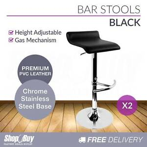 Free Delivery: 2 x PVC Leather Bar Stool Kitchen Counter Gas Melbourne CBD Melbourne City Preview