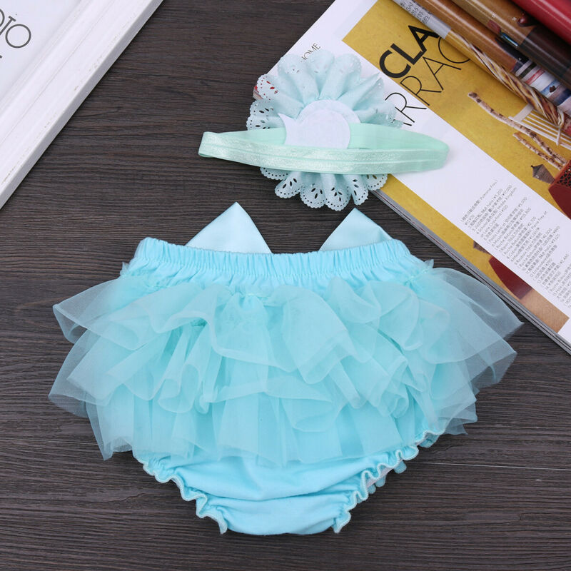 Baby Girl Bloomer Outfit Birthday Party Diaper Cover Bowtie Playsuit  Photo Prop
