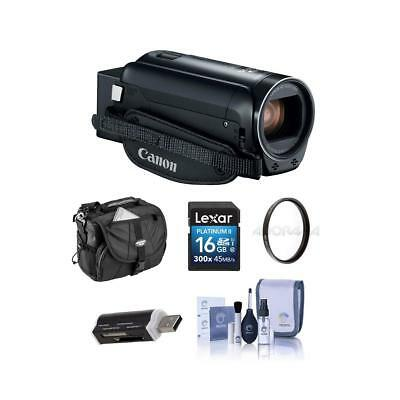 Canon VIXIA HF R800 3.28MP Full HD Camcorder, Black - Bundle