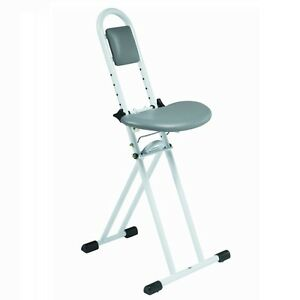 Folding All Purpose Ironing Perching Stool Chair With