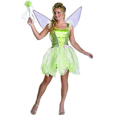 Tinker Bell Deluxe Disney Tinkerbell Teen Junior Green Fairy Halloween Costume