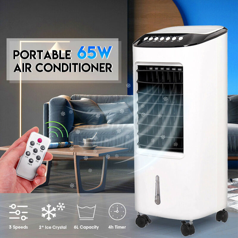 Portable Air Conditioner Conditioning Cooling Cooler Fan Remote Control 6L
