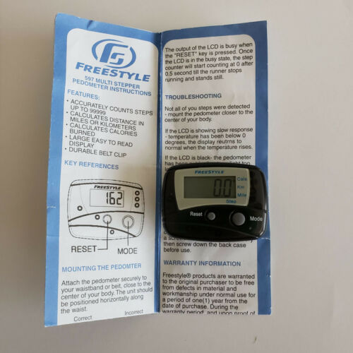 Freestyle 597 Black Multi Stepper Pedometer Monitor to  Count Your Steps