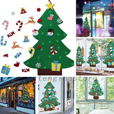 3FT Kids DIY Felt Christmas Tree with Ornaments Xmas Gift Wall Hanging Decor US