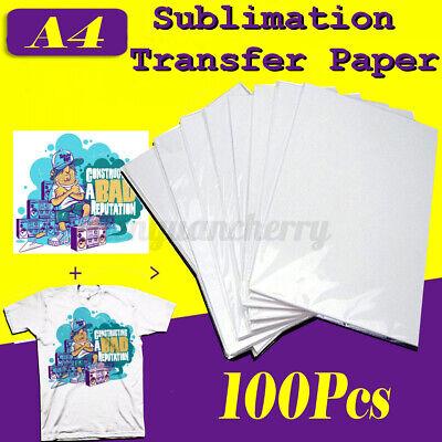 100 Sheets Sublimation Paper A4 For Inkjet Printer Heat Transfer T-shirt Ha