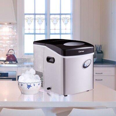 kitchen costway stainless steel ice maker w