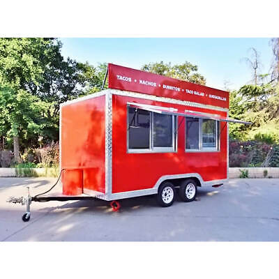 Box Mobile Food Cart Trailer - Made To Order Stainless Steel Custom Food Truck