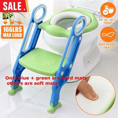 US Kids Potty Training Seat W/ Step Stool Ladder Child Toddler Toilet Chair Home