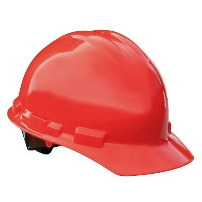 Radians Hard Hat Cap Style With 4 Point Ratchet Suspension Red