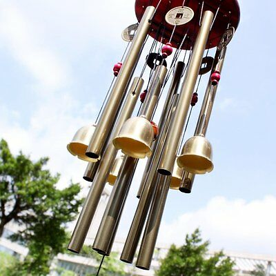"33"" Large Resonant Wind Chimes 10 Tube Copper Church Bell Home Yard Garden Decor"