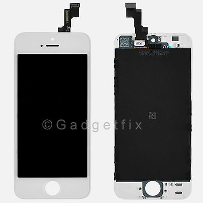 US White Front Housing LCD Display Touch Digitizer Screen Assembly for iphone 5S on Rummage