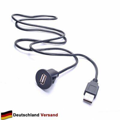 Flush Mount (Auto USB Verlängerungskabel Armaturenbrett Flush Mount für GPS Radio Stereo 1M)