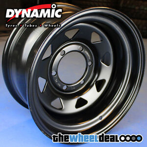 Dynamic-Black-Sunraysia-Wheel-Rim-15x10-6-139-7-44-Patrol-Hilux-Landcruiser-etc