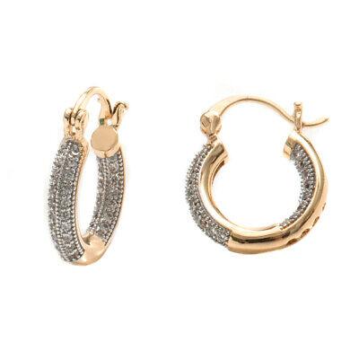 Sevil 18K Gold Plated Huggie Hoop Earrings With Swarovski Elements