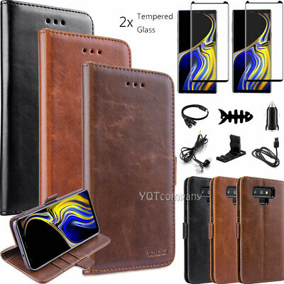 For Samsung Galaxy S8 S9 S10 Plus S7 Case Leather Wallet Flip Cover Accessories