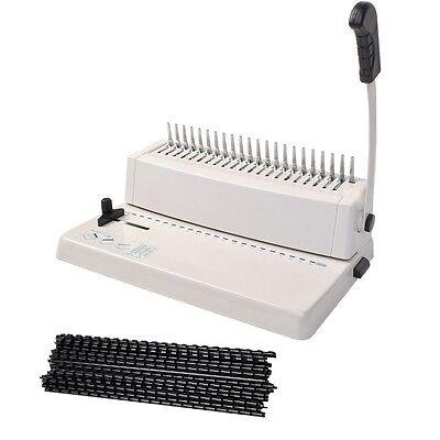 Paper Binding Book Machine Comb Punch Scrapbook Combs Binder Hole Adjustable New