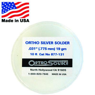 Orthosource Orthodontic Dental Silver Solder 3 M 10 Ft Roll .031 .775mm 19gm