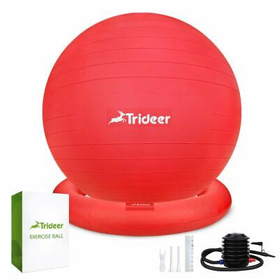 Trideer Ball Chair - Exercise Stability Yoga Ball with Base