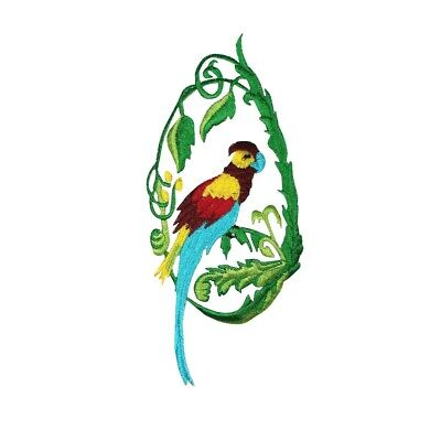 ID 0614 Parrot Macaw Bird Embroidered Iron On Applique Patch for sale  Shipping to India