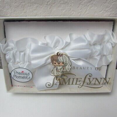 Precious Moments Jamie Lynn Wedding Bridal White Garter New