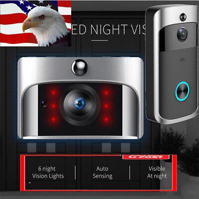 Wireless WiFi Smart DoorBell Video Phone Door Visual Ring In