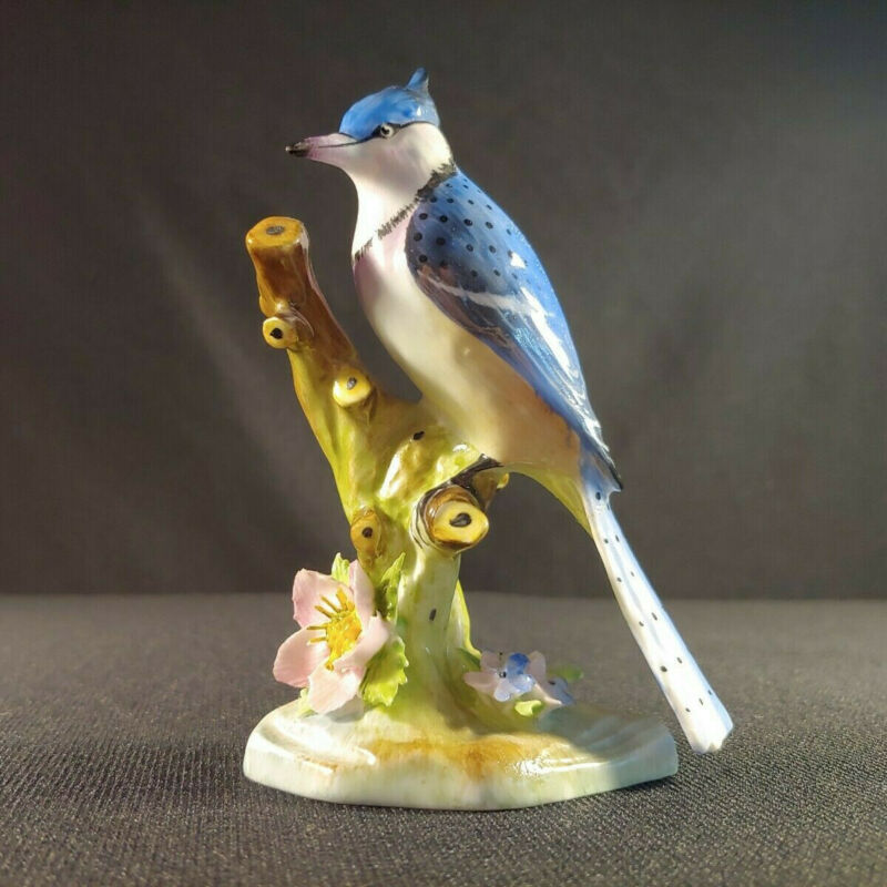 Royal Adderley American Blue Jay Figurine Floral Made in England Bone China