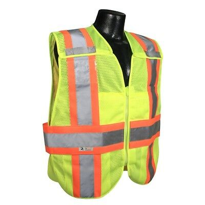 - Radians Class 2 Expandable Two-Tone Safety Vest with Pockets, Yellow/Lime