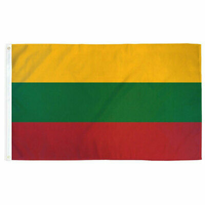 Lithuania Flag 3×5 Polyester Indoor Outdoor Flag Lithuanian Country Banner Décor