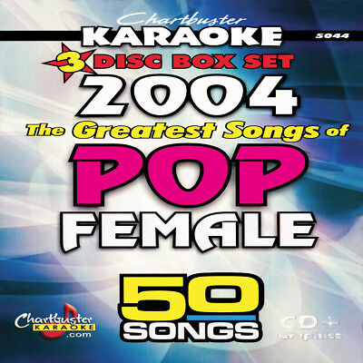 Chartbuster Karaoke CDG  The Greatest Songs of Pop Female 2004 50 songs NEW! for sale  Shipping to Canada