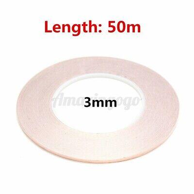 50m Copper Foil Tape Foil Conductive Cloth - Emi Conductive Adhesive Us 3mm