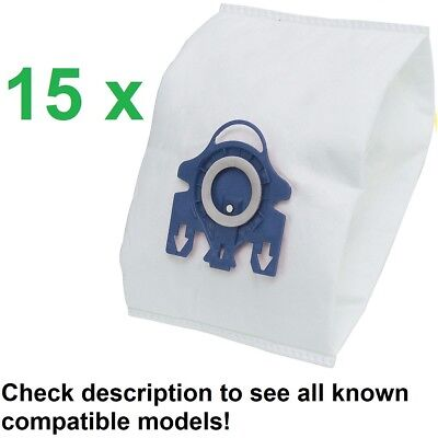 15 Dust Bags Miele S8 Series Cat & Dog Auto Eco PowerPlus Blue Moon Many Others