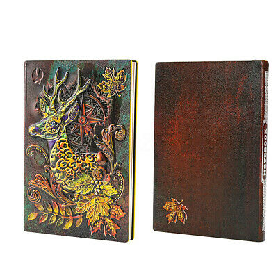 Elk Deer A5 Notebook Book Notepad Travel Journal Vintage Handcraft Binders